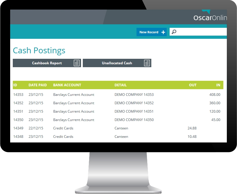 PC Display showing OscarOnline event management screen snippet