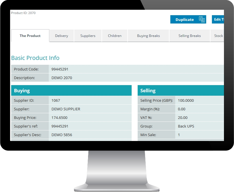 PC Display showing OscarOnline product screen snippet
